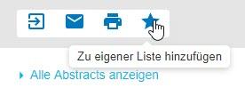 """Screenshot mit Mauszeiger auf dem Sternsymbol, das für """"Zu eigener Liste hinzufügen"""" steht"""