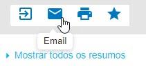 Captura de tela mostrando o cursor apontando para o ícone de envio por email