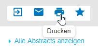 """Screenshot mit Mauszeiger auf dem Druckersymbol, das für """"Drucken"""" steht"""