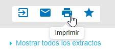 Captura de pantalla que muestra el cursor apuntando al icono de impresora que es para Imprimir