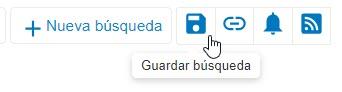 Captura de pantalla que muestra el icono Guardar búsqueda en un círculo en PsycNET