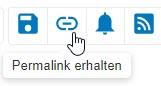 """Screenshot mit eingekreistem Symbol """"Permalink erhalten"""" in PsycNET"""