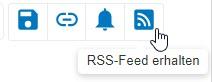 """Screenshot mit eingekreistem Symbol """"RSS-Feed erhalten"""" in PsycNET"""