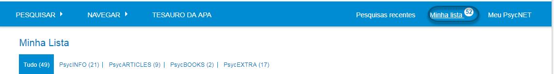 """Captura da tela """"Minha lista"""" com um contador mostrando o número 40 em cima do link"""