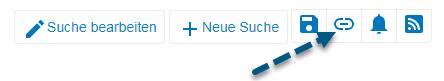 """Screenshot von PsycNET mit Pfeil, der auf das Symbol """"Permalink erhalten"""" zeigt"""