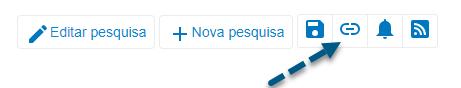"""Captura de tela do PsycNET mostrando uma seta apontando para o ícone """"Obter permalink"""""""