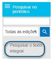 """Captura de tela mostrando a caixa de seleção """"Pesquisar texto completo"""" na tela Navegar"""
