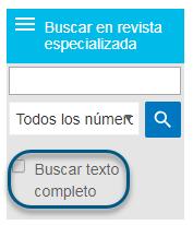 Captura de pantalla mostrando el cuadro Buscar texto completo en la pantalla Examinar
